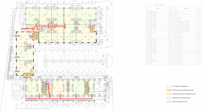 Арма: корпуса 4, 5, 5а. План 1 этажа © Сергей Киселев и Партнеры