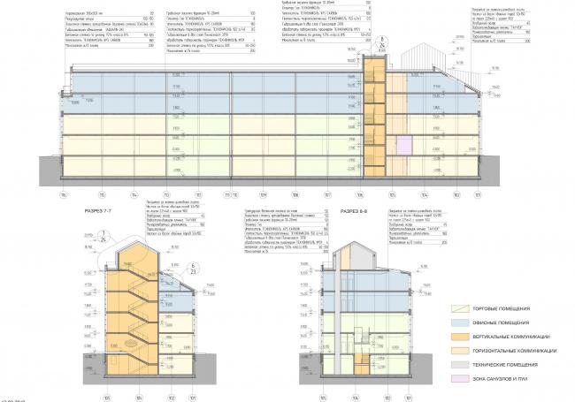 Арма: корпуса 4, 5, 5а. Разрезы © Сергей Киселев и Партнеры