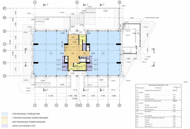 Арма: корпус 6. План 1 этажа © Сергей Киселев и Партнеры