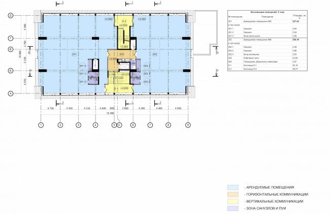 Арма: корпус 6. План 2 этажа © Сергей Киселев и Партнеры