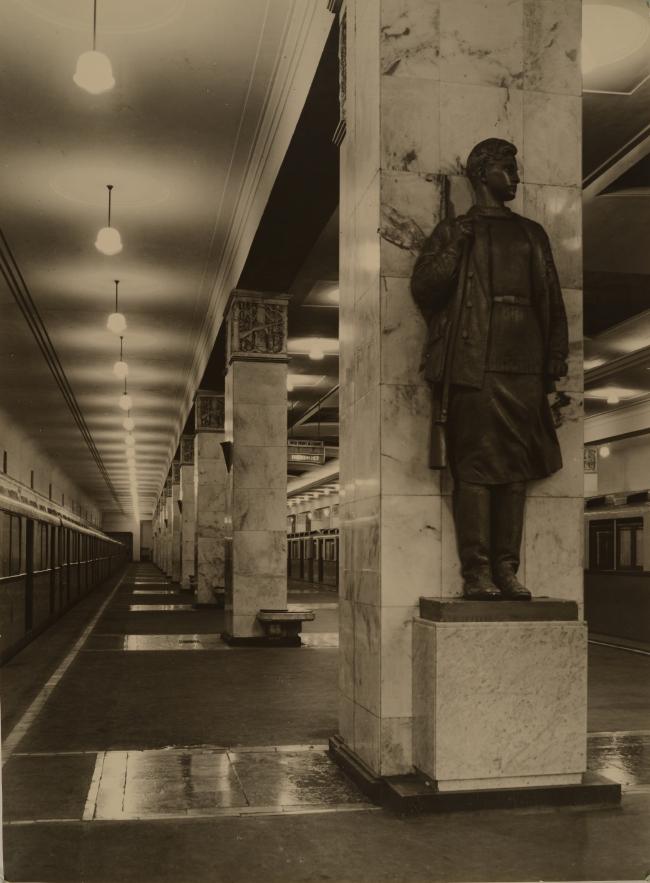 Интерьер станции метро «Партизанская». Материалы предоставлены музеем архитектуры имени А.В. Щусева