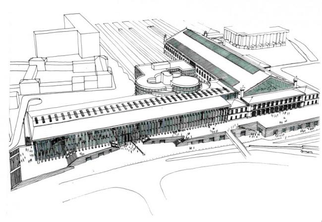 Вокзал Сен-Шарль. Реконструкция. Проект бюро AREP. Фото с сайта: http://www.popsu.archi.fr/popsu-europe/marseille/gares-tgv-et-dynamiques-de-renouvellement-urbain