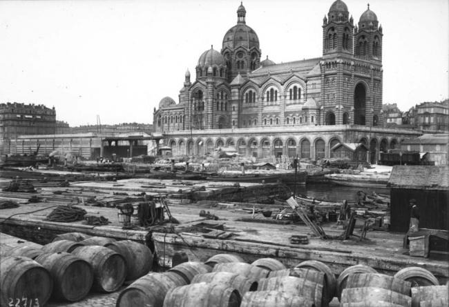 Марсельский порт. Гавань Жольетт. Фото XIX в.
