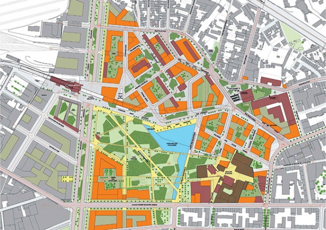 «Свободные доки». Проект планировки. Арх. Р. Карта. © Roland Carta