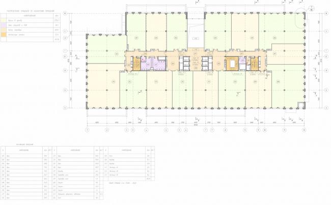 Арма: корпус 19. План 2 этажа © Сергей Киселев и Партнеры
