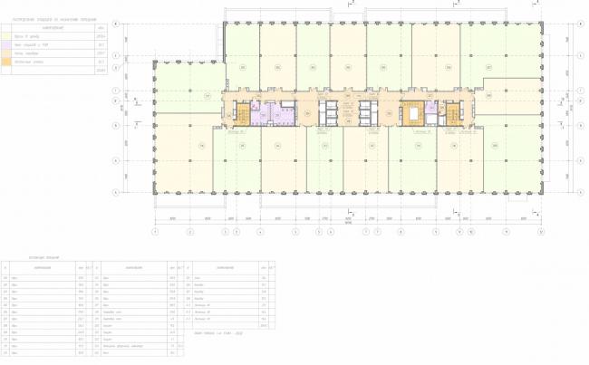 Арма: корпус 19. План 3 этажа © Сергей Киселев и Партнеры