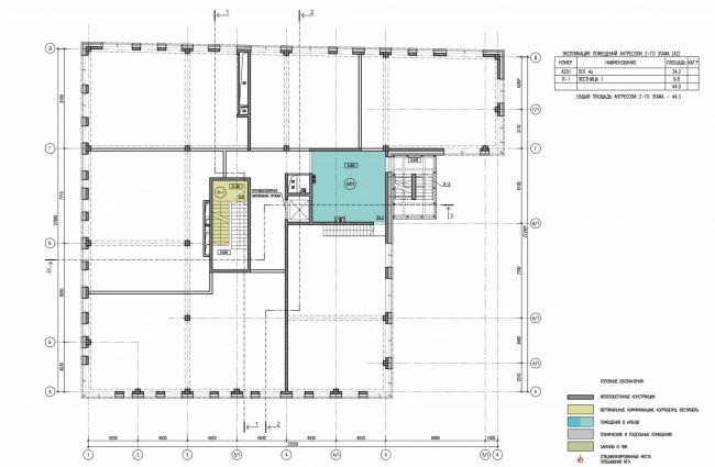 Арма: корпус 25. План антрисоли 2 этажа © Сергей Киселев и Партнеры