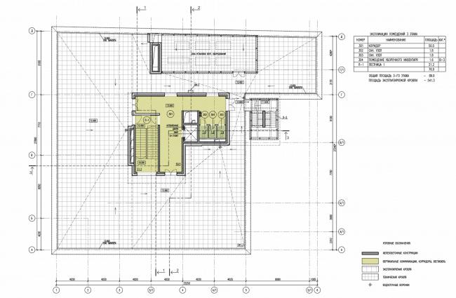 Арма: корпус 25. План 3 этажа © Сергей Киселев и Партнеры