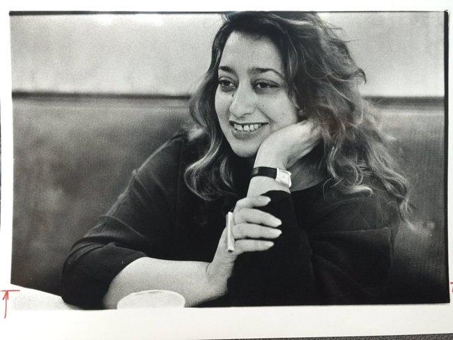 Заха Хадид. Фото 1980-х годов