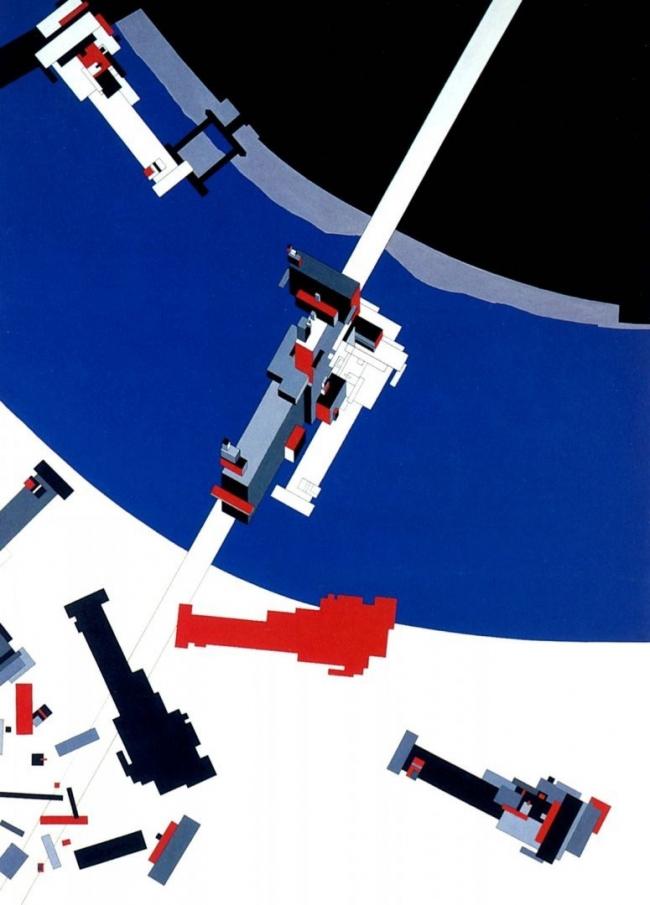 Заха Хадид. Тектоника Малевича. Дипломный проект в лондонской школе Архитектурной Ассоциации © Zaha Hadid Architects