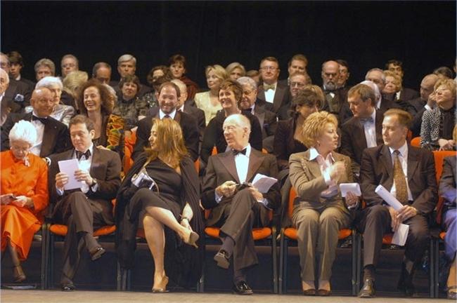 Заха Хадид на церемонии вручения ей Притцкеровской премии. Эрмитаж, Санкт-Петербург. 2004