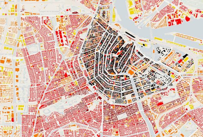 Интерактивная карта Нидерландов © Steven Ottens