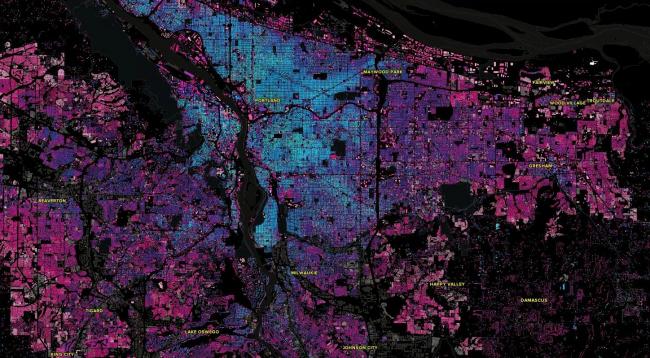 Карта Портленда © Джастин Палмер