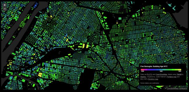 Карта Нью-Йорка © Брэндон Лю