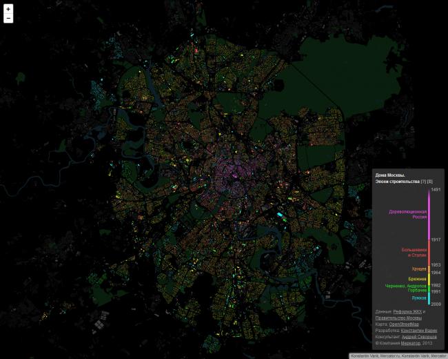Карта Москвы © Константин Варик, компания «Меркатор»