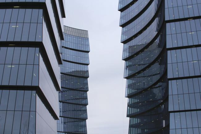 Многофункциональный комплекс «Лотос». Постройка, 2011-2014. Фотография © Юлия Тарабарина