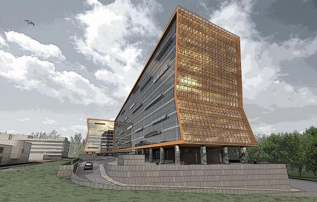 Административно-деловой центр на Рублево-Успенском шоссе, 2007 © Сергей Киселев и Партнеры
