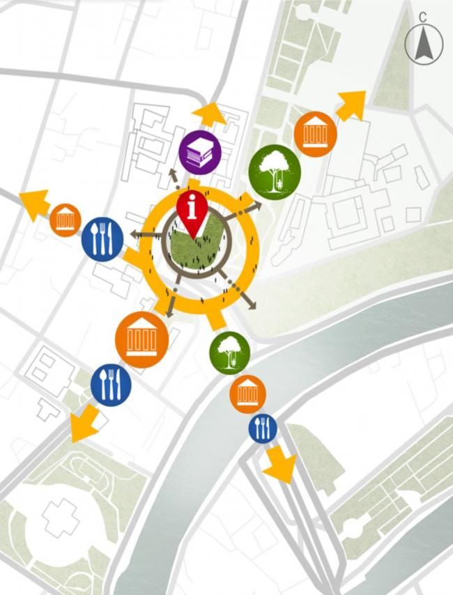 Проект реконструкции Боровицкой площади школы AFF. Схема концепции. Проект, 2014 © Школа AFF