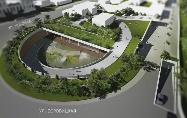 Проект реконструкции Боровицкой площади школы AFF. Проект, 2014 © Школа AFF