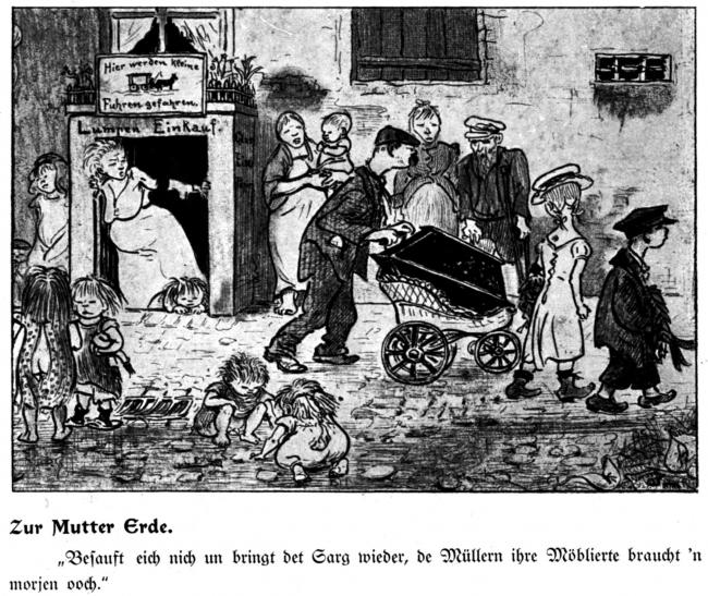 Генрих Цилле , «В родную землю»: – «Не перепейтесь и верните всё как было, Мюллерам из меблирашек он  завтра тоже нужен». Изображение предоставлено издательством «БуксМарт»