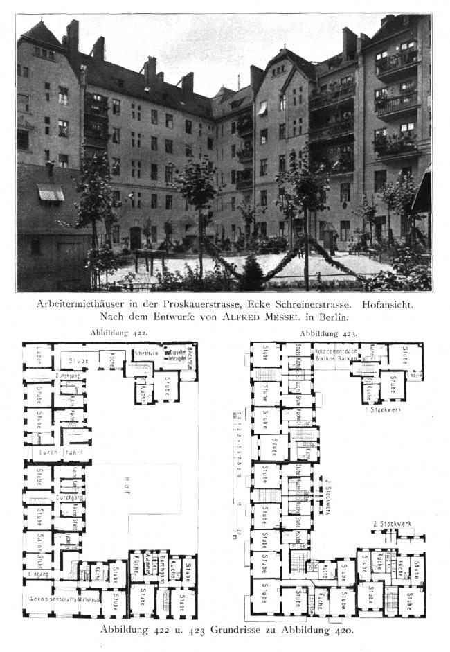 Жилые дома на Проскауэр штрассе и Шрайнерштрассе, Берлин. Изображение предоставлено издательством «БуксМарт»