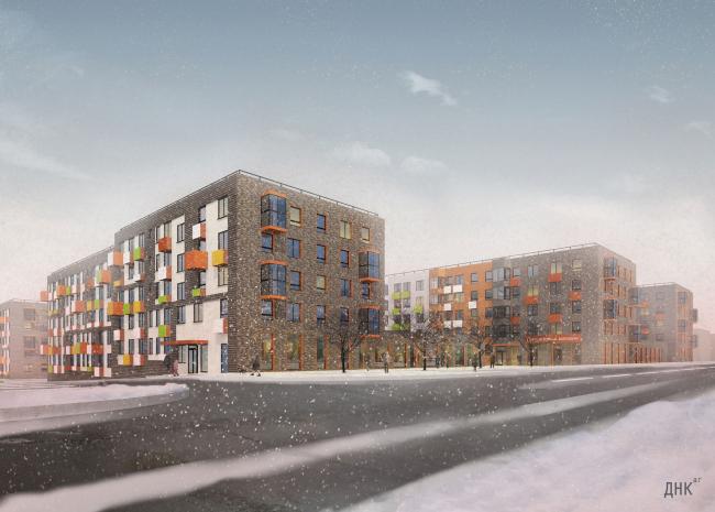 Жилой район Горки. Тип домов 1. Проект, 2015 © ДНК аг