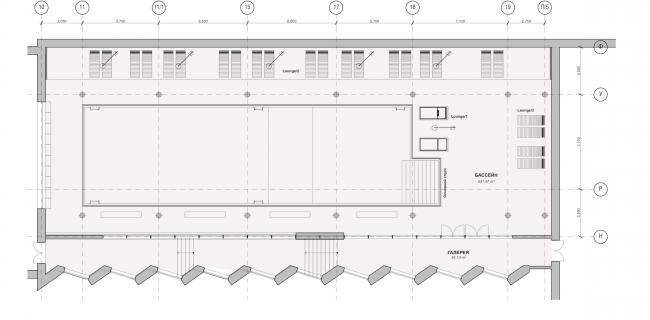 Многофункциональный жилой комплекс в Екатеринбурге. План бассейна. Проект, 2016 © T+T Architects