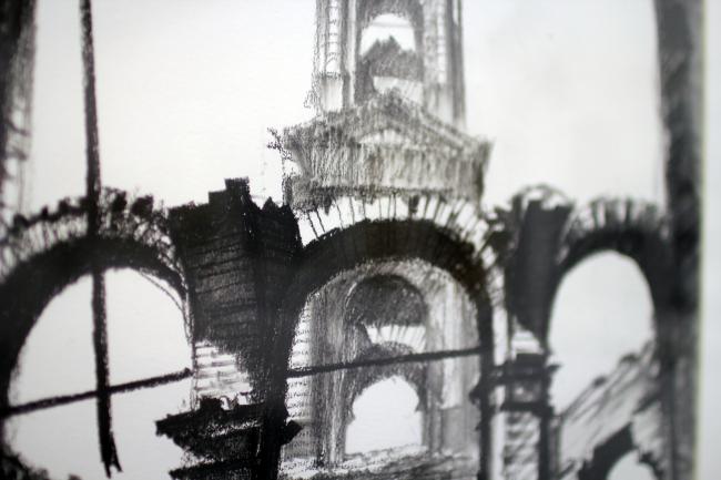 Графика Сергея Чобана, фрагмент. Фотография © Юлия Тарабарина, Архи.ру