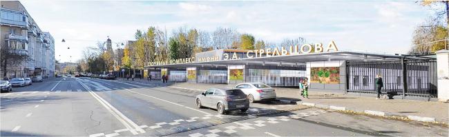 Спортивный комплекс имени Э.А. Стрельцова. Входная группа со стороны Восточной улицы. Проектировщик ПИ «Арена»