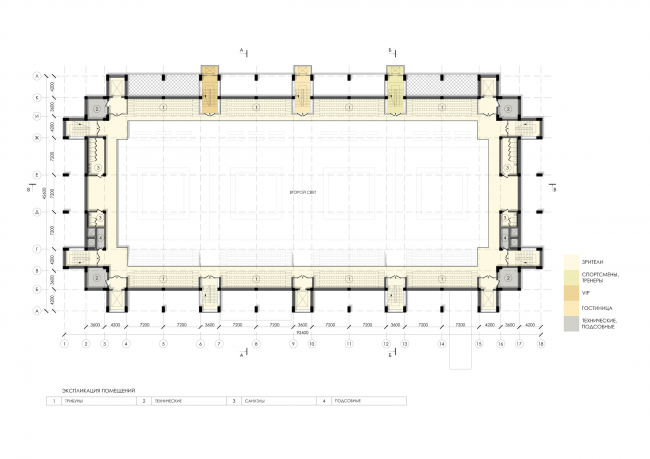 Спортивно-оздоровительный комплекс школы дзюдо. План 6 этажа © Студия 44