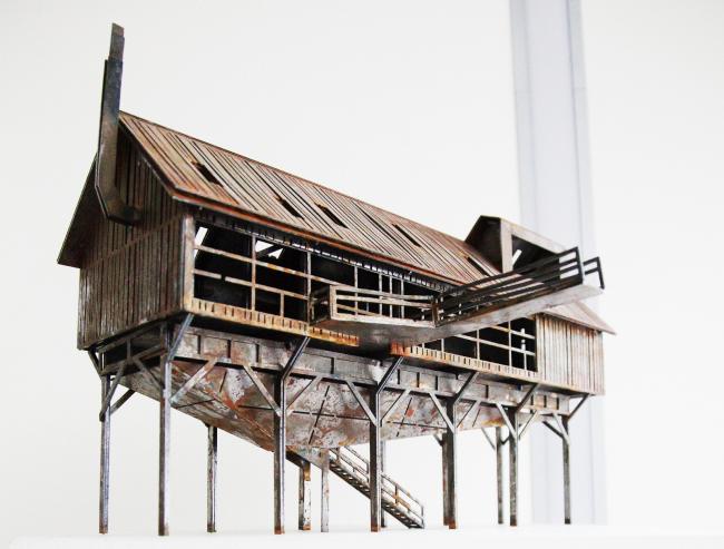 Дом в овраге. Промышленные дома Петра Виноградова. Фотография © Пётр Виноградов, 2016 («Арх Москва»)
