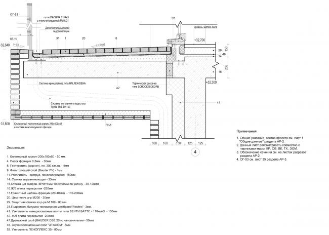 Жилой дом с подземной автостоянкой на ул. Бурденко. Узлы © Сергей Скуратов ARCHITECTS