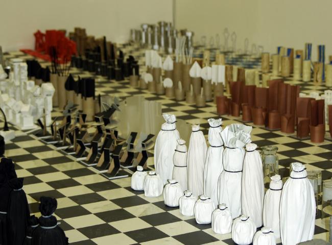 Проект «Шахматы», кафедра дизайна архитектурной среды, МАРХИ.  Фотография © Алла Павликова