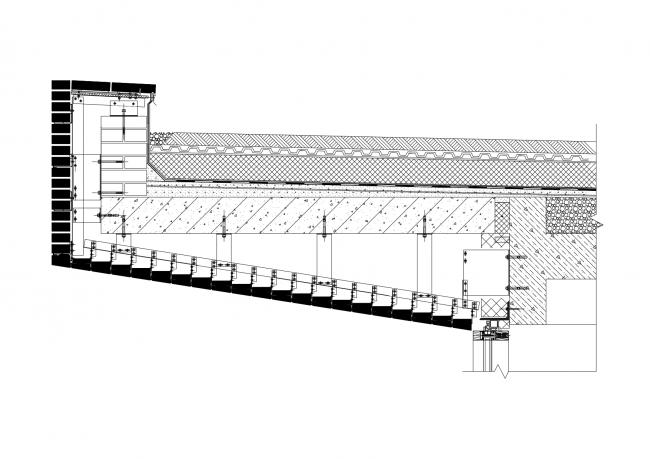 Жилой дом с подземной автостоянкой на ул. Бурденко. Подвесной элемент © Сергей Скуратов ARCHITECTS