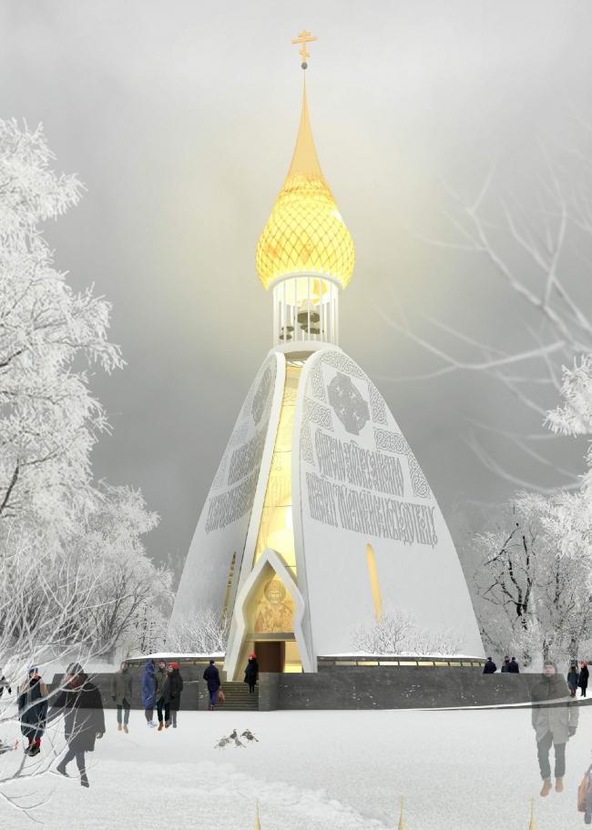 Церковь Святителя Николая. АМ «Снегири». Изображение предоставлено Комиссией по церковной архитектуре СА СПб