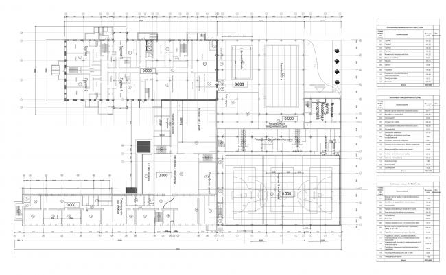 Учебно-спортивный комплекс в Кирове. План 1 этажа © Архстройдизайн