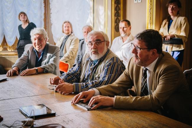 Круглый стол. Слева направо: Олег Романов, Михаил Микишатьев, Александр Макаров. Фото: Кирилл Санталов