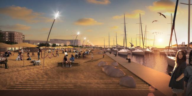 Концепция развития Имеретинской набережной. Пляж. Проект, 2016 © Агентство стратегического развития «Центр» & Turenscape