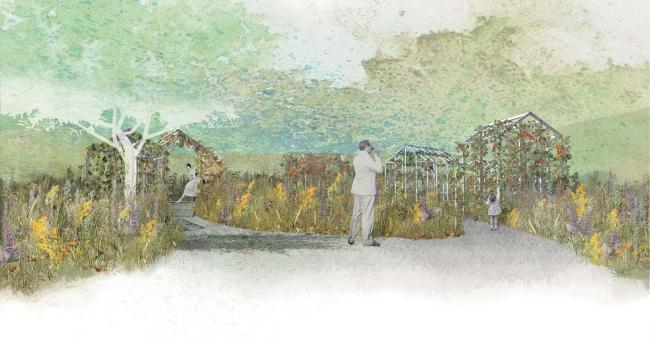 Съедобный сад. Имение Шомон-сюр-Луар, Франция. Конкурсный проект © Архитектурная группа «8 линий» и Alphabet City