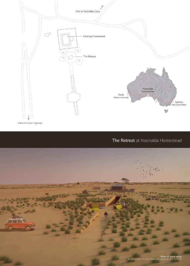 The Retreat at Koonalda Homestead / Lisa Azhar, DuenEe Chan, Ivan Hage © Non Architecture Competitions