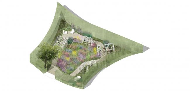 Съедобный сад. Имение Шомон-сюр-Луар, Франция. Конкурсный проект ©  «8 линий» и Alphabet City
