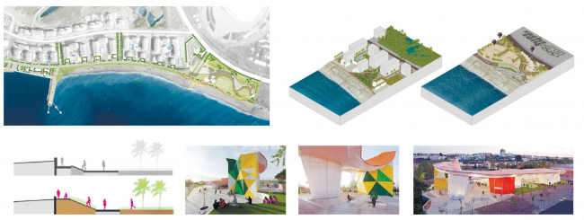 Концепция развития Имеретинской набережной. Зоны «Высокий берег» и «Олимпийский пояс». Проект, 2016 © Агентство стратегического развития «Центр» & Turenscape