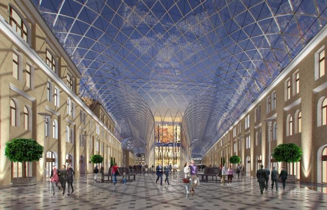 Проект реконструкции Большого Гостиного Двора в Петербурге © Евгений Герасимов и партнеры