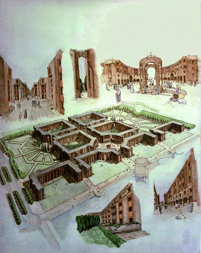 Озёрные аркады, Париж, 1982 © Ricardo Bofill Taller Arquitectura