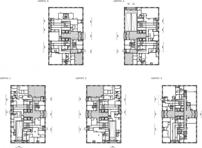 Жилой квартал «Водный». План 1 этажа © SPEECH