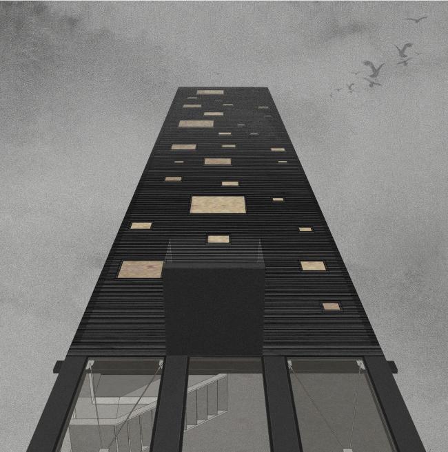 Курсовой проект Анны Пановой на тему «Деревянная башня». Студия Николая Белоусова. МАРШ, 2016