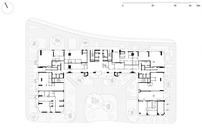 Жилой комплекс «Символ» (очередь 1б). План 1 этажа. Корпус №33 © ATRIUM