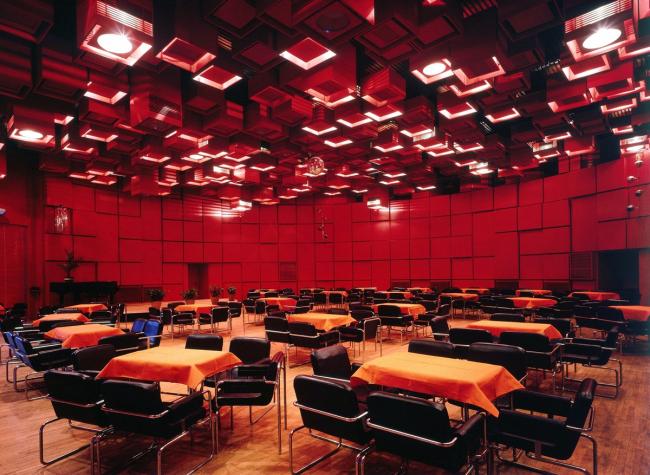 Малый зал конгресс-центра. Фото: Ярослав Франта. Источник: http://www.sosbrutalism.org/cms/16270579