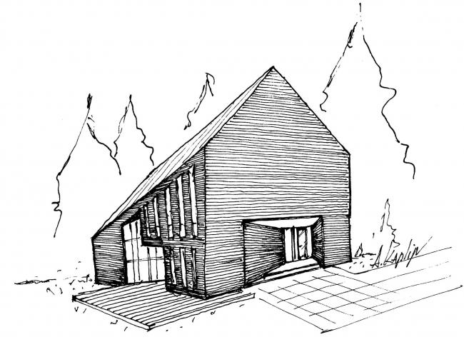 Дом «Артур». Эскиз © Андрей Каплин