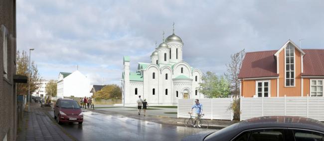 Проект русского культурного центра в Рейкьявике. Вариант 1 © Александр Солдатов. ЦХИАР